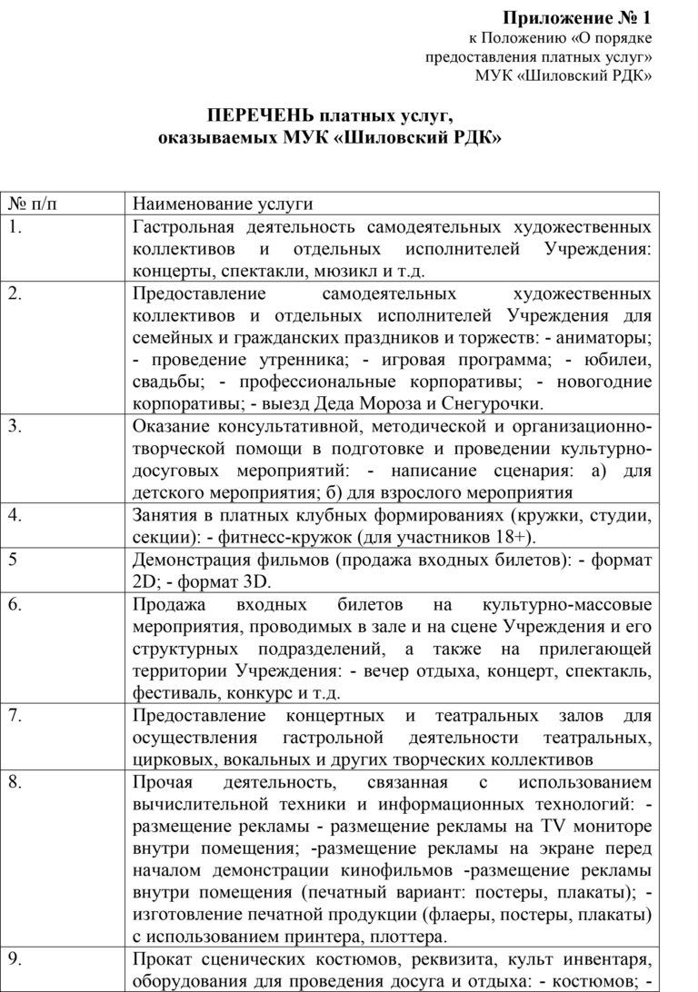 приложение №1-1